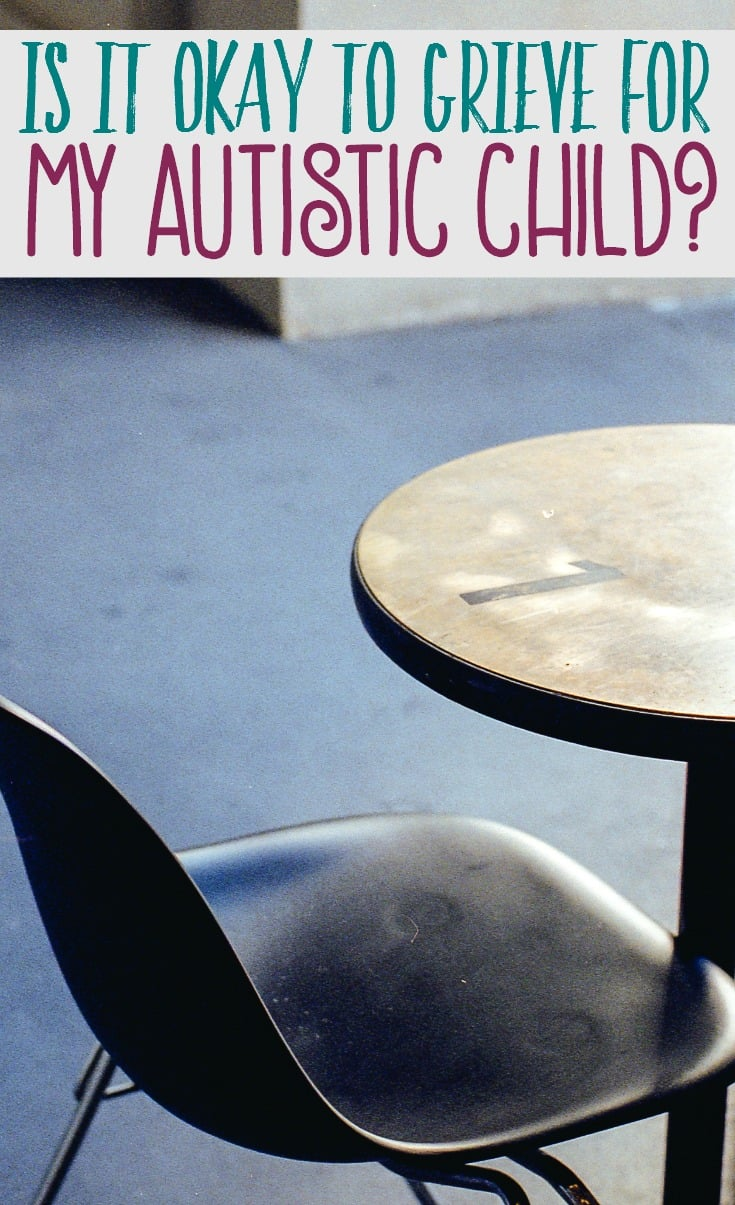 An autism diagnosis usually brings a tidal wave of emotions. Grief just may be one of them. Is it okay to grieve your child's autism diagnosis?