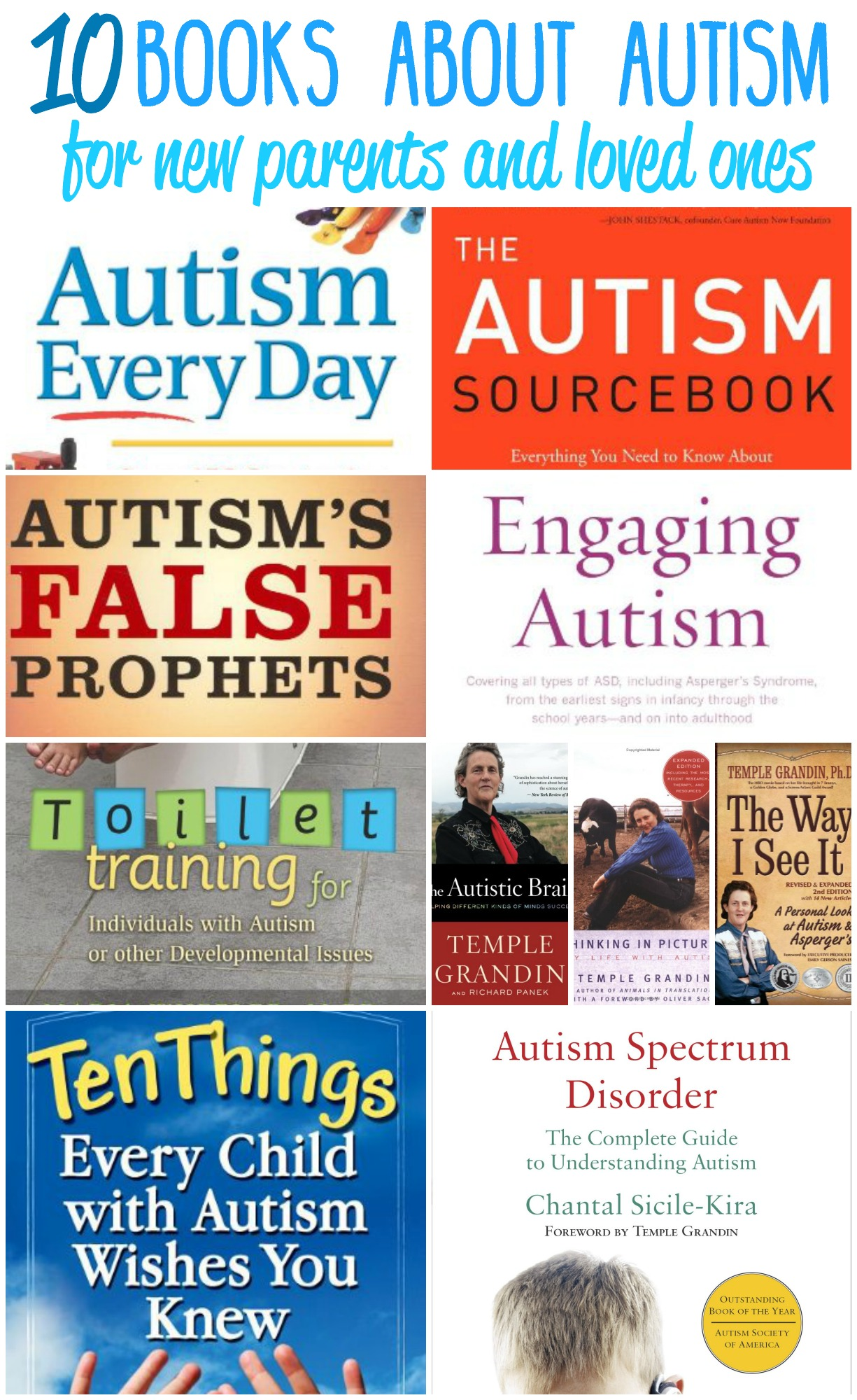 Do you have a child that was recently diagnosed with autism? Or maybe you have a family member that does? Take some time to take a look at my personal picks for top ten books about autism for new parents and loved ones.