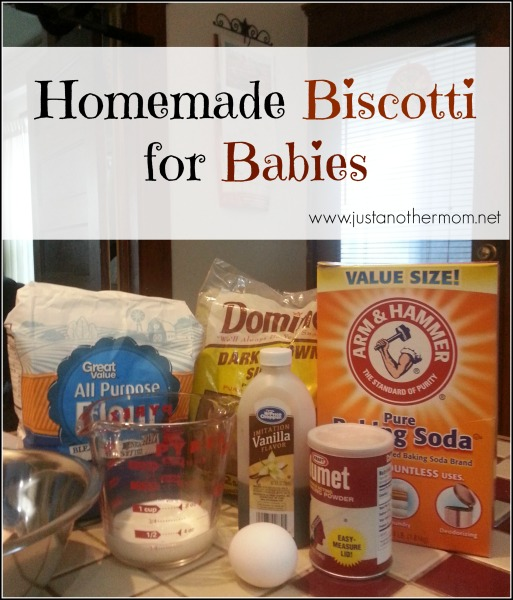 Homemade Biscotti for Babies- from Just Another Mom