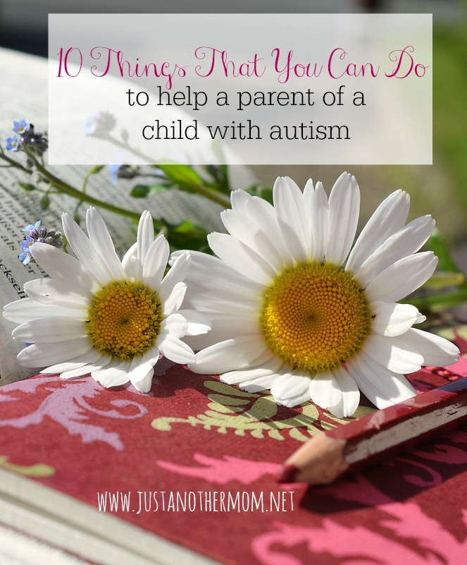 With the rise of the autism diagnosis in the United States alone, chances are that you know a parent of a child with autism. Here are ten things that you can do to help a parent of a child with autism.