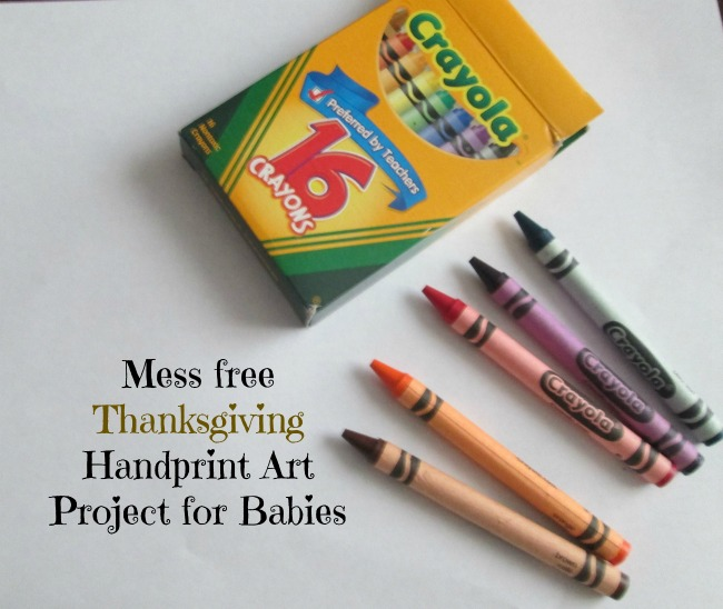 Mess Free Thanksgiving Art Project for Babies