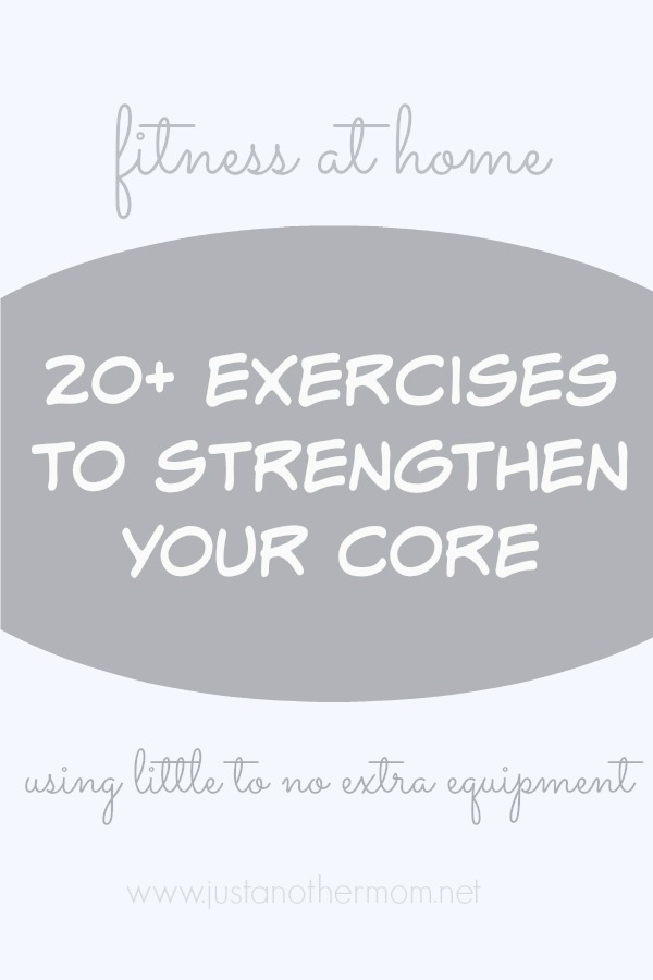 Easy core exercises to do at home that require no additional equipment to complete.