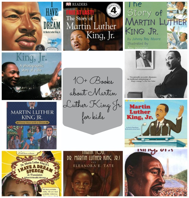 Books about Dr. Martin Luther King Jr. for kids and a free mini printable pack to celebrate and honor the life of Dr. Martin Luther King Jr.