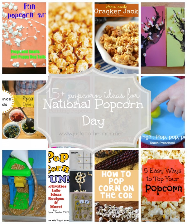 15+ Fun Popcorn Inspired Posts to celebrate National Popcorn Day, curated by Just Another Mom