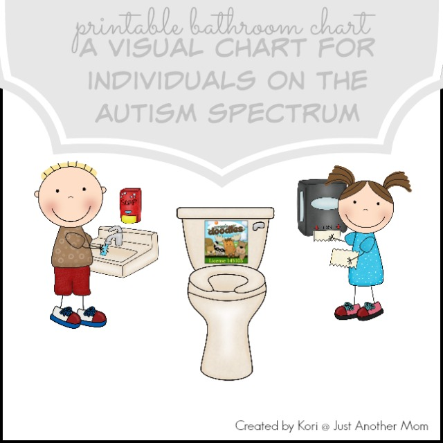 Download a free printable bathroom chart from Just Another Mom
