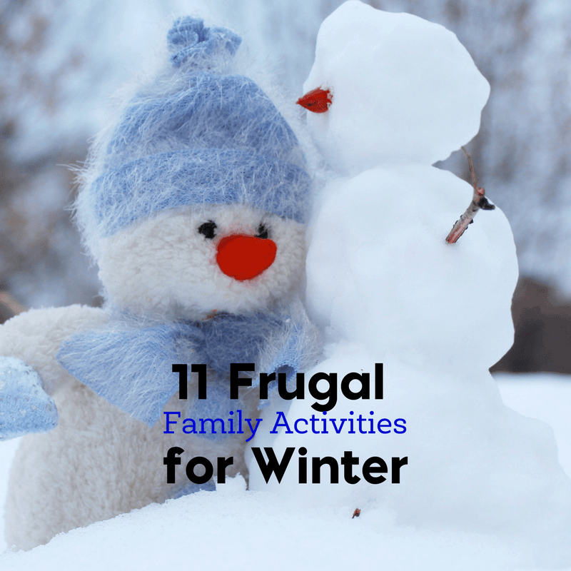 In need of a frugal family activity for winter? Here are 11 outdoor and indoor frugal family activities for winter.