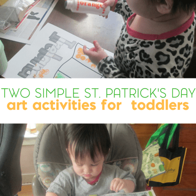 Easy St. Patrick's Day Art for Toddlers