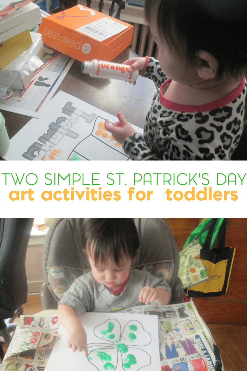 Easy St. Patrick's Day Art for Toddlers 1