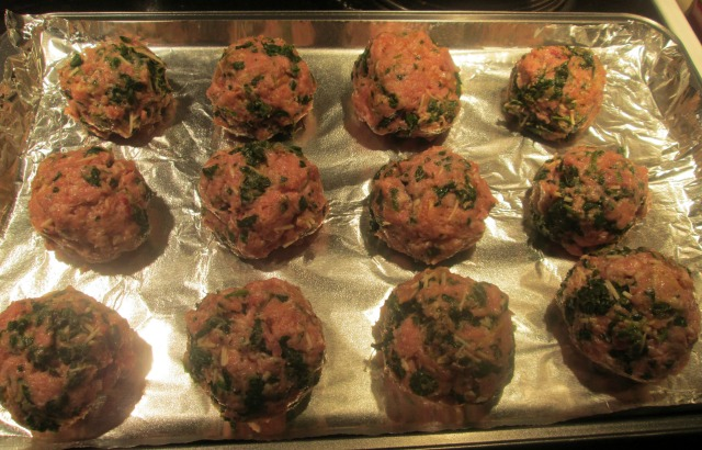 spinach sausage and turkey meatballs 2