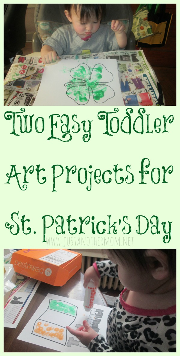 Two Easy St. Patrick's Day Art for Toddlers ideas