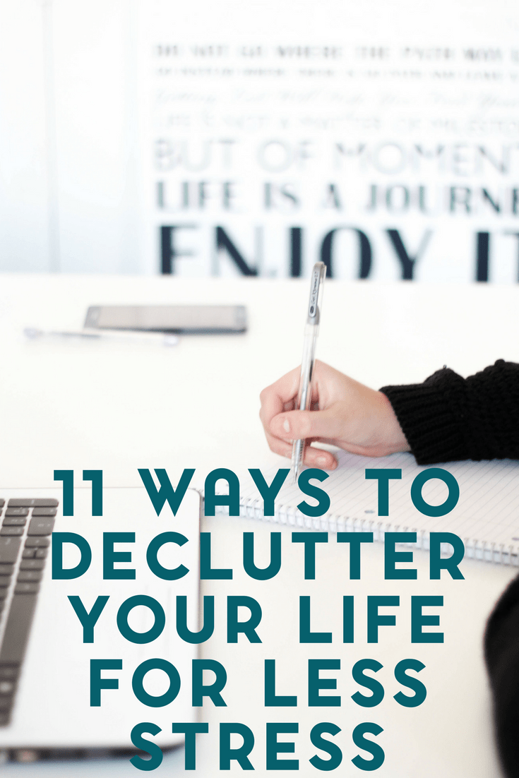 11 Ways to Declutter Your Life for Less Stress 1