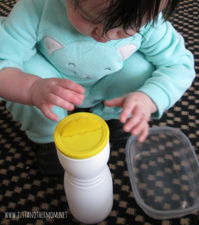 Easy DIY button play for fine motor skills