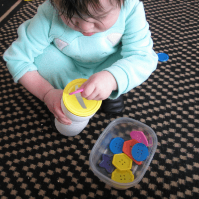 Button Play for Fine Motor Skills