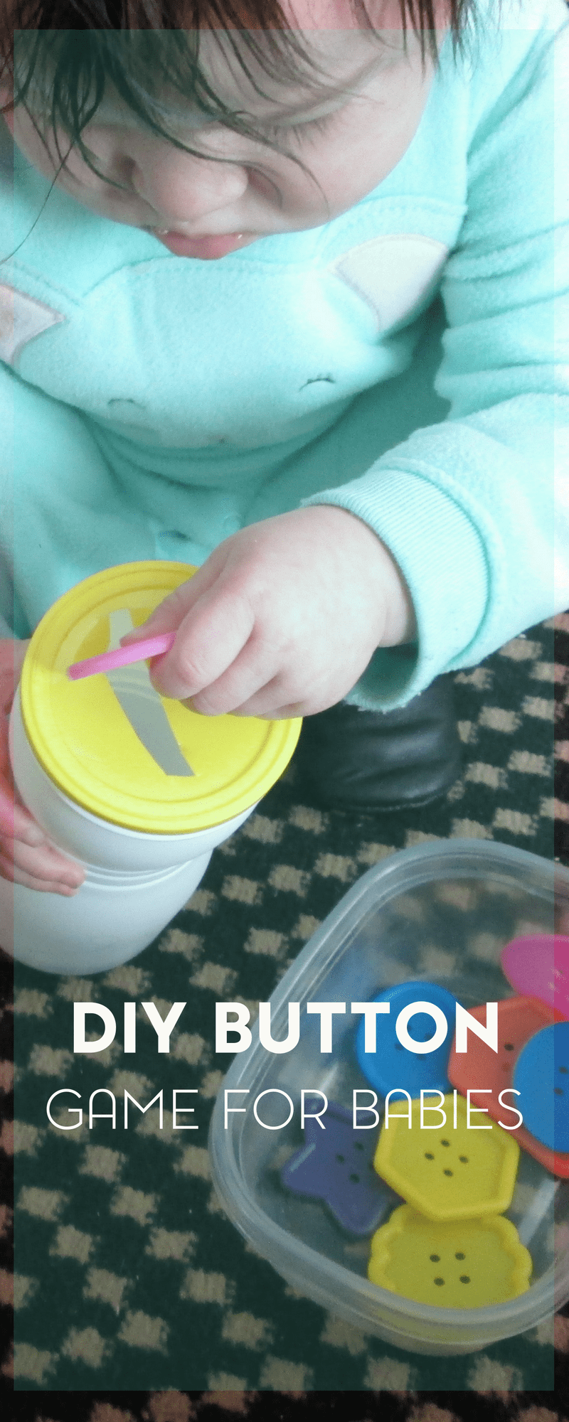 This easy DIY button game for babies uses materials you probably already have on hand.