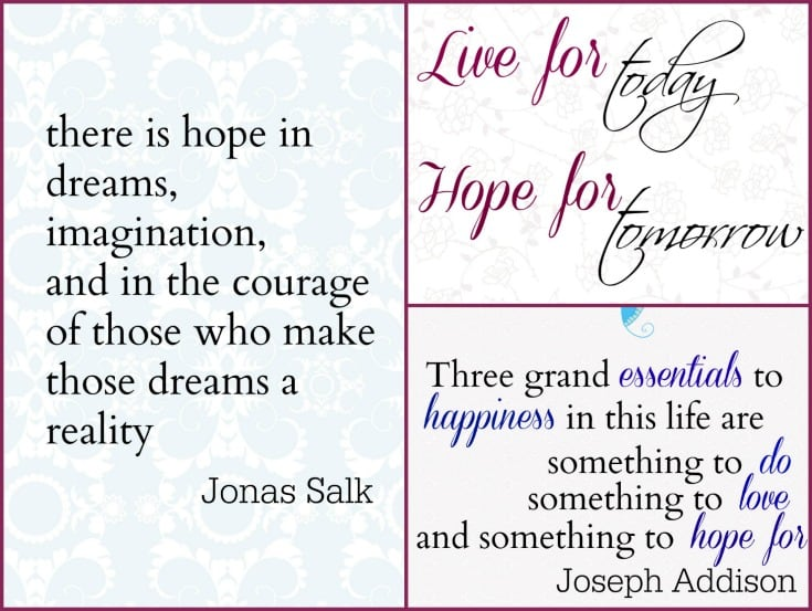 4 Free Quote Printables about Hope