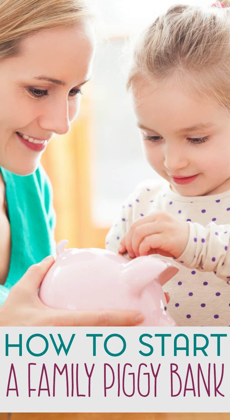 A family piggy bank is a great way for teaching young children to save money. And it's also a unique way for families to work together towards a common goal.