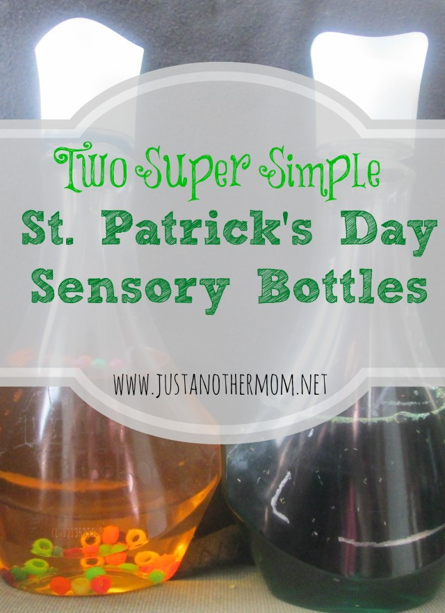 Two Simple St. Patrick's Day Sensory Bottles
