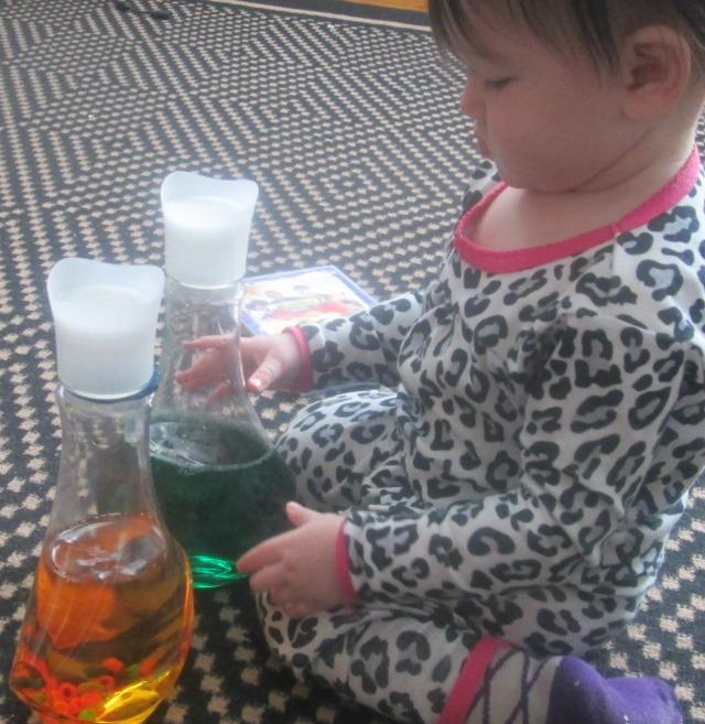 st. patrick's day sensory bottles 3