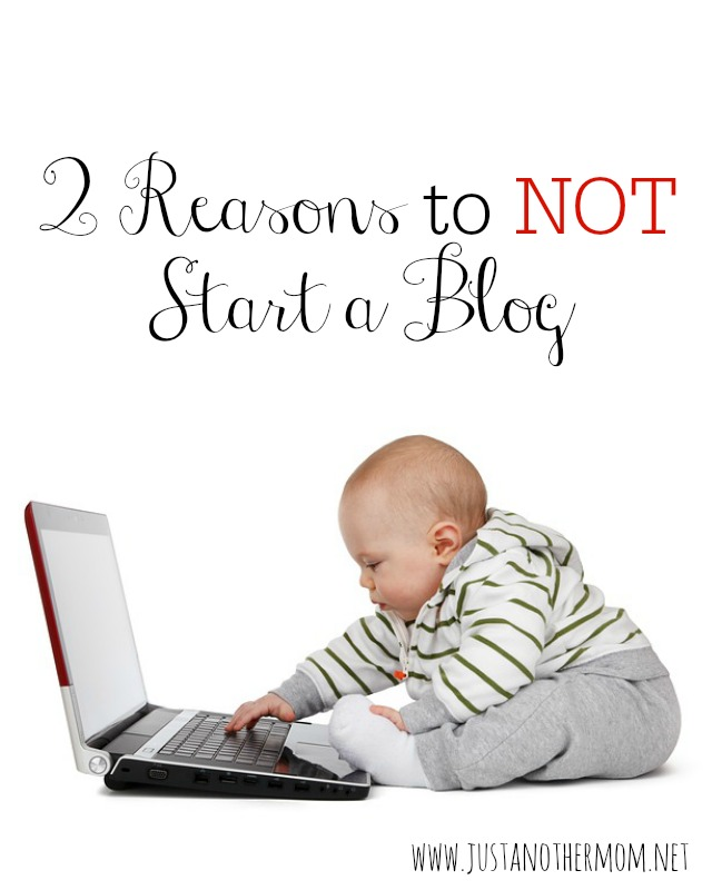 If you're just starting out or thinking of starting a blog, here are 2 reasons to not start a blog