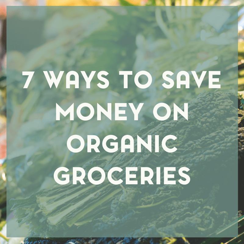 Living an organic lifestyle can be expensive, there's no doubt about that. Here are 7 ways to save money on organic groceries.