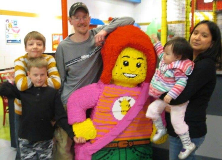 blended family at Legoland