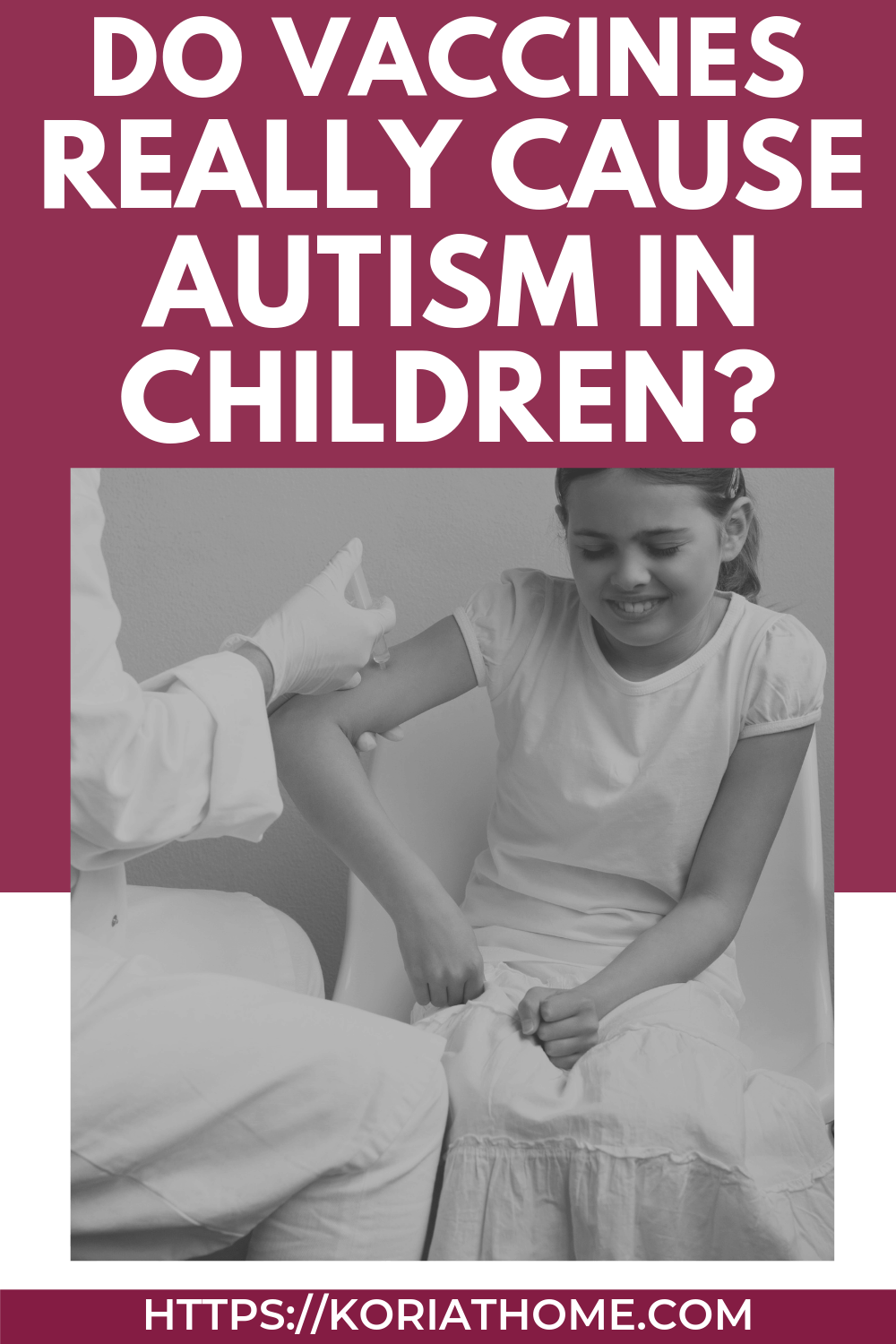 Asking the question about vaccines and autism