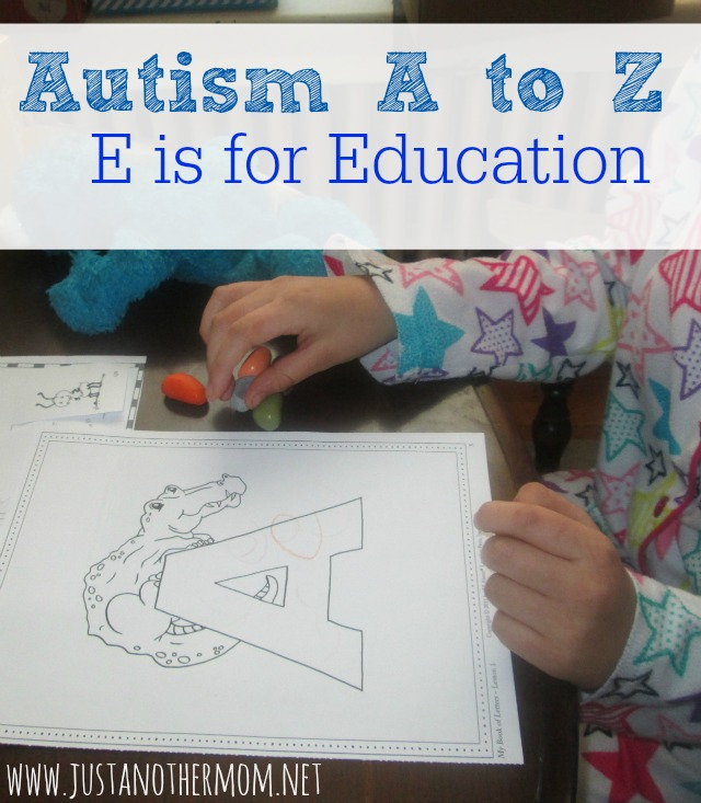 Autism A to Z: E is for Education