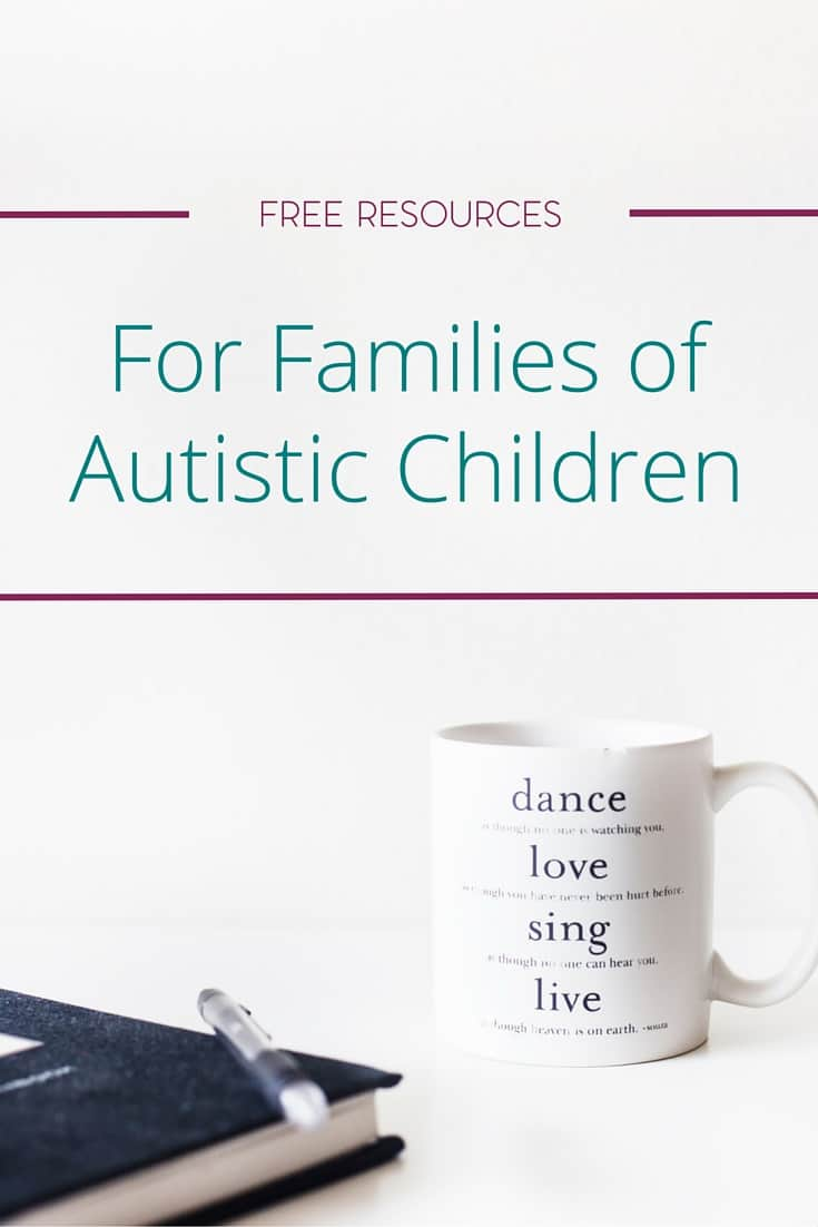 Do you have a child that was recently diagnosed with autism? Help cut the overwhelm with these free resources for families with autistic children.