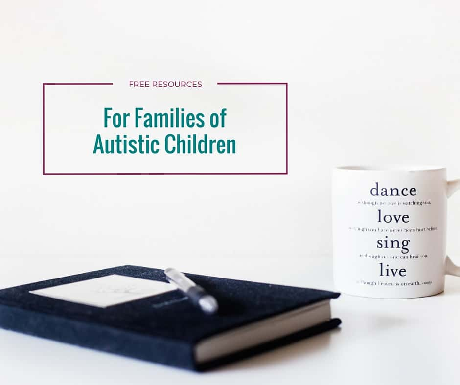 One of the purposes of Kori at Home is to provide support and information for families with children on the autism spectrum. Here are just a few of the free resources for families that we offer.