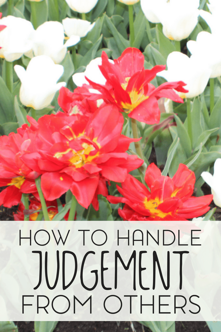 People are bound to judge you. It's human nature, or so I want to think. But how do you deal with handling judgment in public?