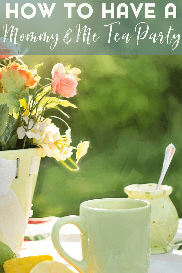 A mommy and me tea party can be a great way to bond with your kids at any time of the year.