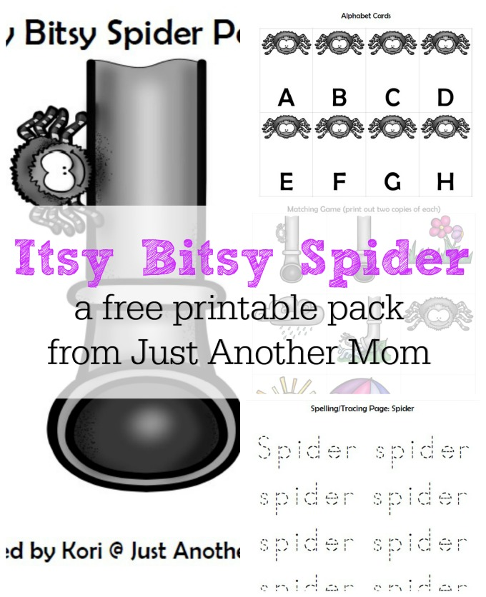 Free itsy bitsy spider printable pack