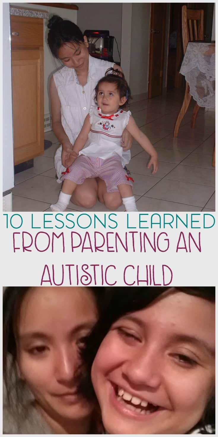 Parenting doesn't come with a manual and when you add an autism diagnosis, some days are just downright challenging. Here are a few lessons that I've learned from parenting an autistic child.