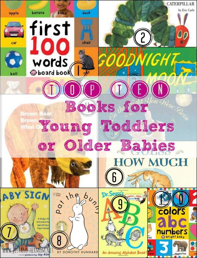 We love books in our house and today we're sharing our top ten books for young toddlers or older babies.