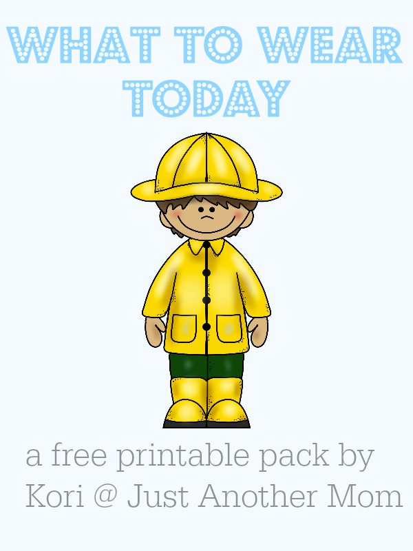 What to wear today? A free printable pack from Just Another Mom