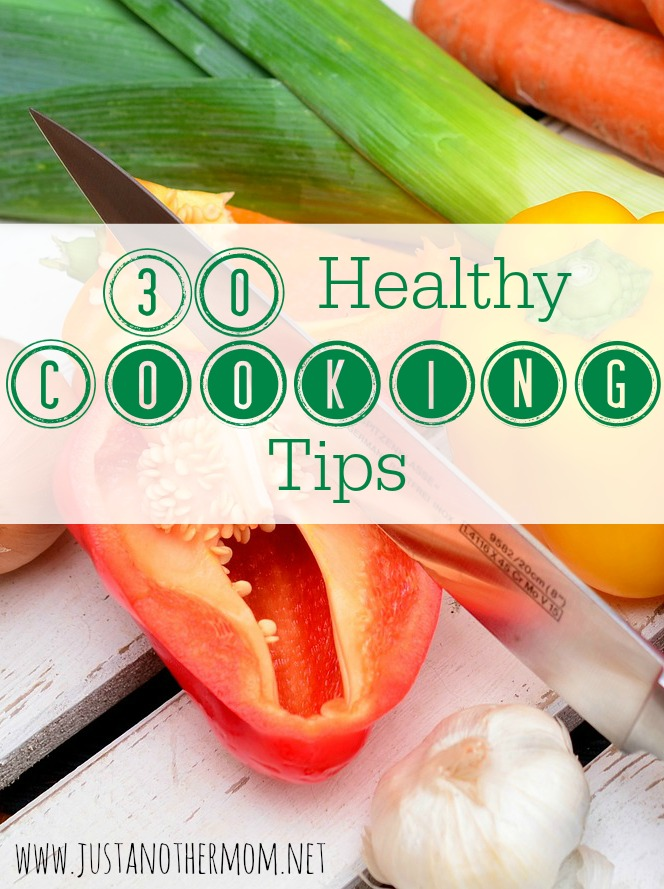 Looking for some healthy cooking tips? I have 30 of them for you on the blog today!