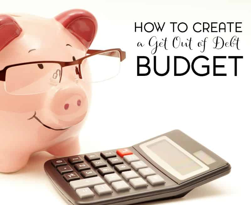 Are you trying to get out of debt? Why not create a get out of debt budget.
