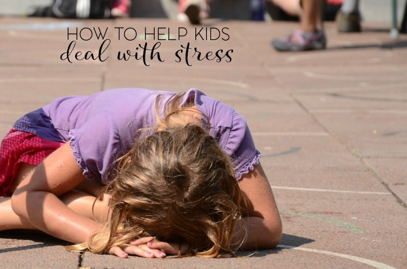 Did you know that kids get stressed? As adults, we might be quick to dimiss the thought because they're kids and their lives are easier. That's not always the case though and here are a few ways to help kids deal with stress.