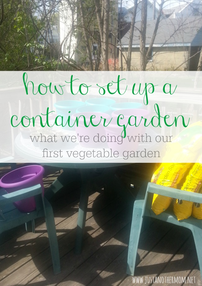 This year we're starting our first vegetable garden. See how we set up a container garden in our backyard.