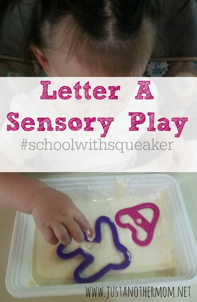 Simple Sensory Play idea for the Letter A.