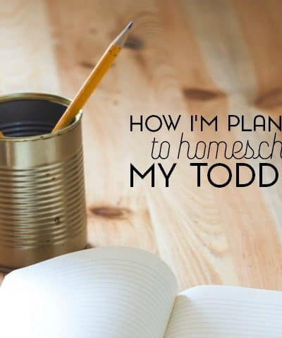 How I'm Preparing To Homeschool My Toddler