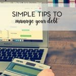 If you truly feel like you're drowning in debt with no end in sight, take a look at these simple debt management tips.