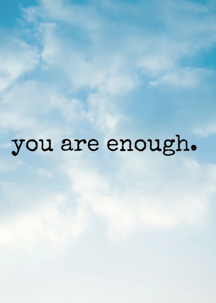 Freebie Friday: You Are Enough Printable Quote  Kori at Home