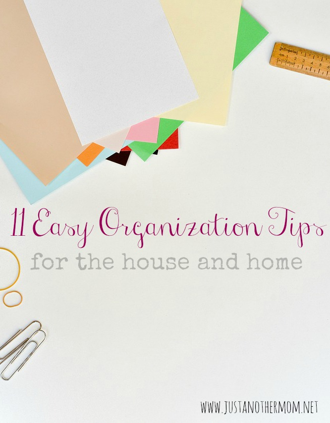 Welcome back to another post in the Homemaking for the Uninspired series! Today we're covering eleven easy organization tips to help you start with getting organized.