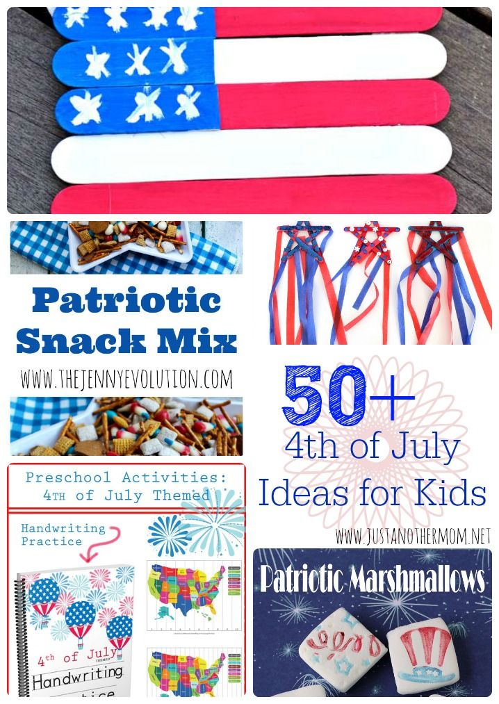 Looking for kid friendly ideas for the 4th of July? I've gathered over 50 Fourth of July ideas for kids .
