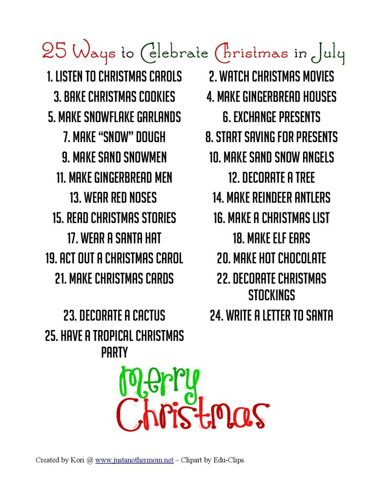 Fun Christmas In July Ideas.25 Ways To Celebrate Christmas In July