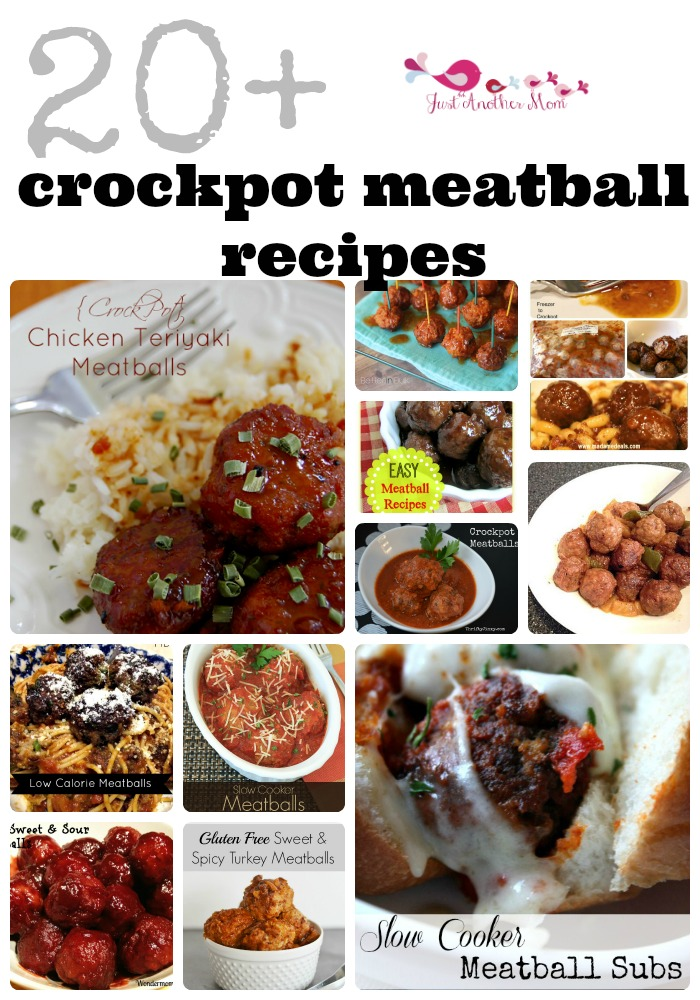 In need of an easy meatball recipe? Try one of these crockpot meatball recipes!