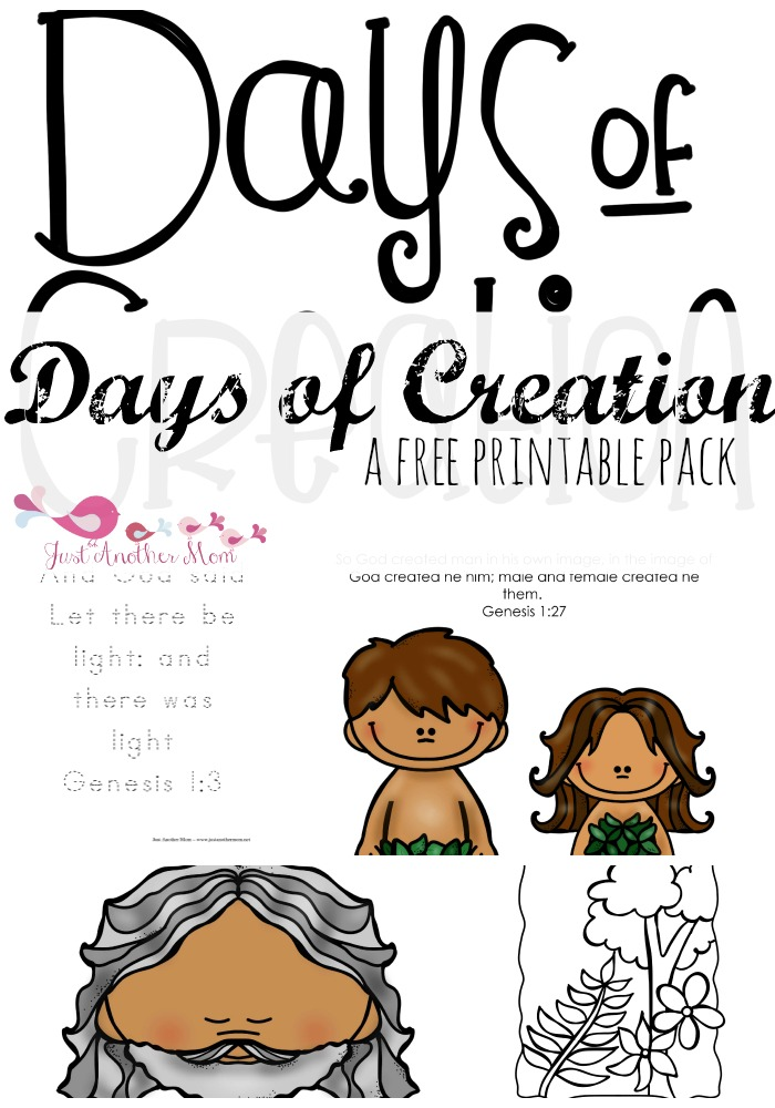 Our next offering in our series of Christian printable packs for toddlers, we're offering a free Creation Story printable pack.
