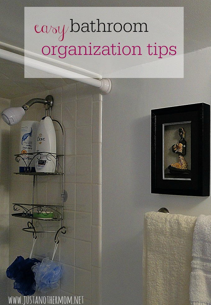 This week's set of tips on Homemaking for the Uninspired are all about the bathroom! Try these easy bathroom organization tips to help combat the mess and everyday clutter.
