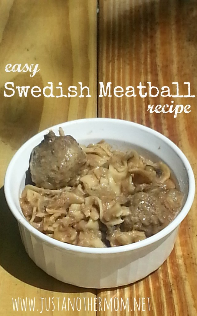 Need an idea for dinner? Try this easy Swedish meatball recipe!